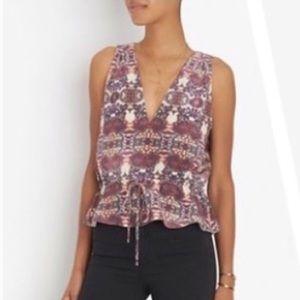 Intermix Valencia sleeveless v-neck blouse size P